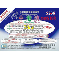 3HK Hong Kong Mainland China Macau 25GB+3GB/365 Days Voice Data PAYG Prepaid SIM