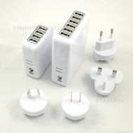 Universal 4 or 6 Ports USB Travel Charger AC Wall Power Adapter for Mobile Phones, Tablets