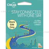 China Mobile CMLInk Global Data Blank SIM Only No Credit Roaming PAYG Prepaid