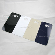 Replacement Parts Rear Glass Housing Battery Door Cover Back Panel with Adhesive Tape for Samsung Galaxy S6 G920 LTE 4G