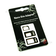 LOT 3in1 Nano to Micro to Full Mini SIM Card Adapters For Mobile Phones, Tablets