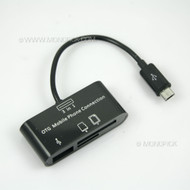 3in1 Micro USB OTG Micro SD Card Reader Hub For Android phones, tablets