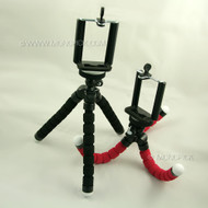 Portable Mini Octopus Tripod Stand Camera Holder with Bracket Clip For mobile phones