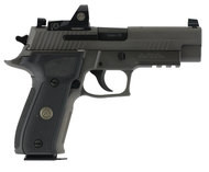 """SIG Sauer P226 Legion RX Semi Auto Pistol 9mm Luger 4.4"""" Barrel 15 Rounds X-Ray Sights/ROMEO1 Reflex Sight SIG Rail Black G10 Grips Stainless Steel Slide/Alloy Frame PVD Gray Finish (BDU)"""