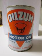 NOS Vintage Knucklehead Panhead 45 Quart Oilzum 70 WT Motor Oil