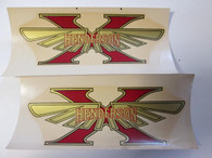 NOS Vintage Harley Panhead Henderson Motorcyle Parts Decals