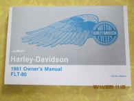 1981 Harley Davidson FLT Owners Manual