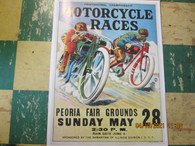 Vintage Motorcycle Race Poster