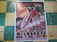 Vintage Harley Motorcycle Racing Poster