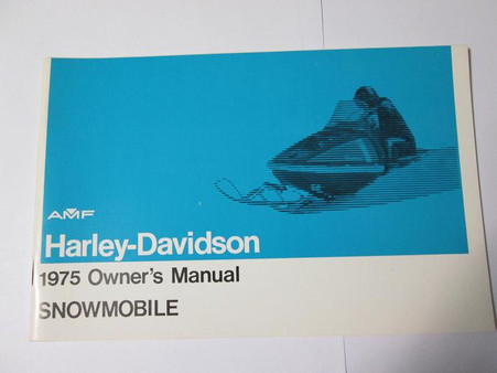 Heres a new old stock Harley 1975 Snowmobile Owners Manual