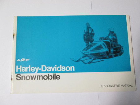 Heres a new old stock Harley 1972 Snowmobile Owners Manual