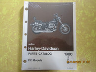 NOS 1971-80 Harley OEM FX Parts Catalog