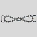 2.625 Inches x 0.625 Inch Crystal Silver Rhinestone Connector, ss12 (50% off)