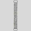 4.5 inches 3 row Rhinestone Connector, Crystal/Silver, ss18