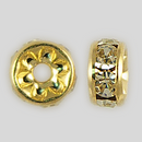 5mm Rhinestone Rondelle Jonquil, Gold Plated