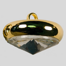 Crystal, Gold Plated 14mm Rivolli Button