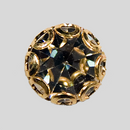 Crystal, Gold Plated 6mm Rhinestone Button, ss29