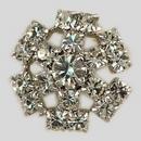 Crystal, Rhodium Silver Plated 18mm Rhinestone Button