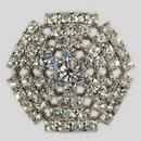 Crystal, Rhodium Silver Plated 28mm Rhinestone Button