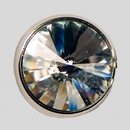Crystal, Silver Plated 20mm Rivolli Button