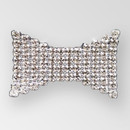 Fancy Rhinestone Application, Crystal MC Chatons in Silver Plating with White Netting