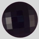 Jet Glass button, 5 Ligne/10mm