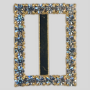 Rectangle Rhinestone Buckle Crystal Gold, 20x16mm Outside Dimensions, 14mm Inside Dimension, ss8.5
