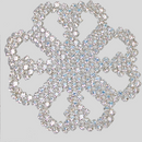 Rhinestone Patch, Crystal MC Chatons in Silver Plating with White Netting