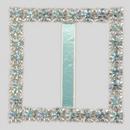 Square Rhinestone Buckle Crystal Silver, 20mm Outside Dimension, 15mm Inside Dimenson