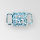 0.75 inch Square Rhinestone Connector, Crystal, Silver, ss18