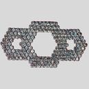 Fancy Crystal Silver Rhinestone Banding Ornament