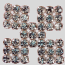 Square Crystal Silver Rhinestone Banding Ornament