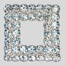Square Crystal Silver Rhinestone Banding Patch