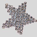Crystal Silver Rhinestone Banding Star