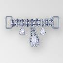 2 inch Rhinestone Connector, Crystal, Silver, ss12, ss18, 10x6mm Pear