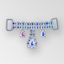 2 inch Rhinestone Connector, Crystal AB, Silver, ss12, ss18, 10x6mm Pear (30% applied; limited - time special)