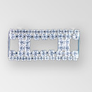 2 inch Rectangle Rhinestone Connector, Crystal Silver), ss14.5, ss18, 12x10mm Octagon