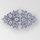 Fancy Rhinestone Buckle Crystal Silver, 5x2.5 inches