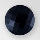 Jet Glass Button, 6 Ligne/13mm