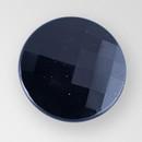Jet Glass Button, 8 Ligne/18mm