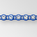 1-row ss13 Crystal AB, Royal Blue Setting, Machine Cut Rhinestone  Plastic Banding