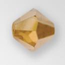 6mm MC Preciosa Bicone (Rondelle) Bead, Golden Flare  color