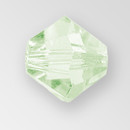 4mm MC Preciosa Bicone (Rondelle) Bead, Chrysolite AB color