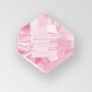 4mm MC Preciosa Bicone (Rondelle) Bead, Pink Sapphire color