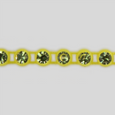 1-row ss13 Jonquil, Yellow Setting, Machine Cut Rhinestone Plastic Banding