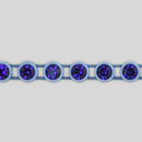 1-row ss13 Sapphire, Blue Setting, Machine Cut Rhinestone Plastic Banding