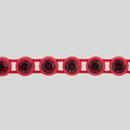 1-row ss13 Siam Ruby, Red Setting, Machine Cut Rhinestone Plastic Banding