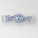 2.5 inches Braided Rhinestone Connector in Crystal AB Silver, ss12, ss34