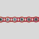 1-row ss19 Crystal AB, Red Setting, Machine Cut Rhinestone Plastic Banding