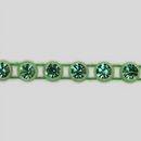 1-row ss8 Peridot, Green Setting, Machine Cut Rhinestone Plastic Banding